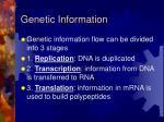 genetic information
