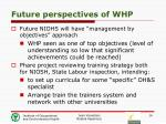 future perspectives of whp1