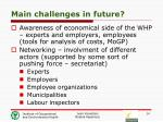 main challenges in future