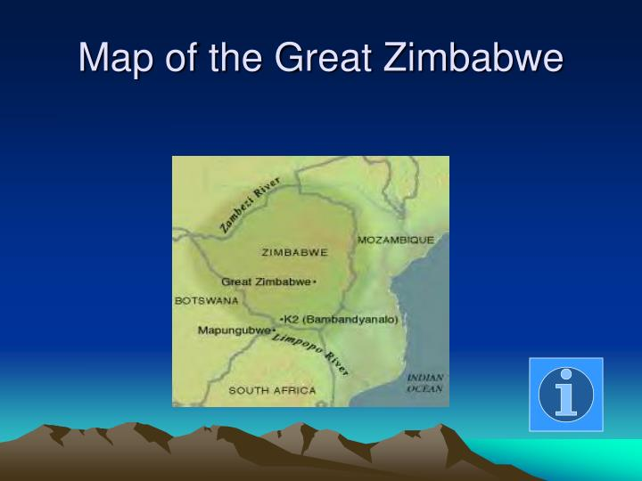 Map of the Great Zimbabwe