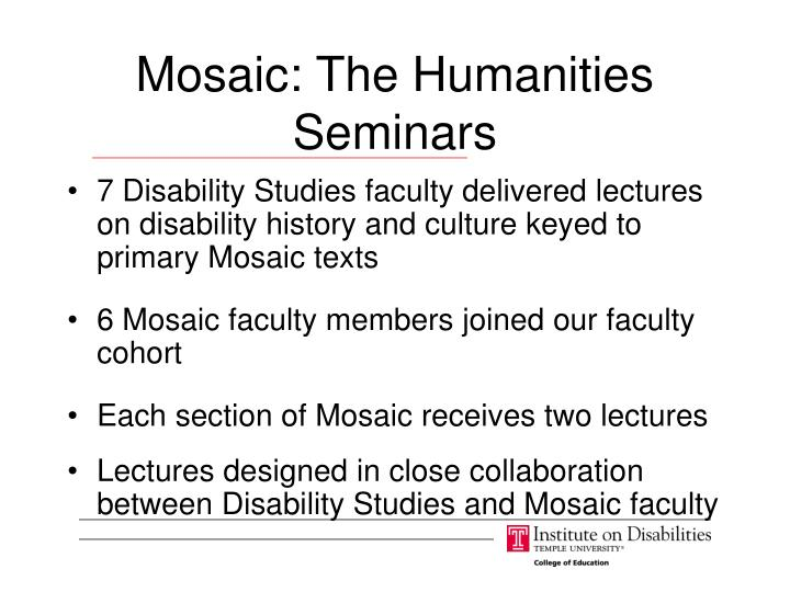 Mosaic: The Humanities Seminars