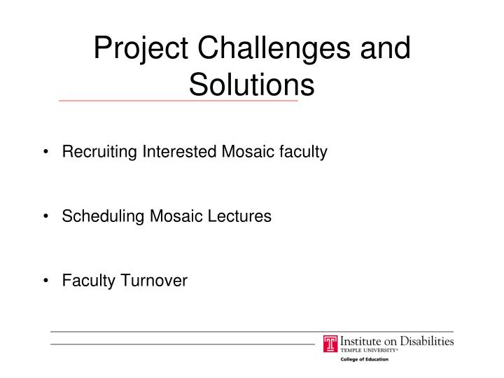 Project Challenges and Solutions