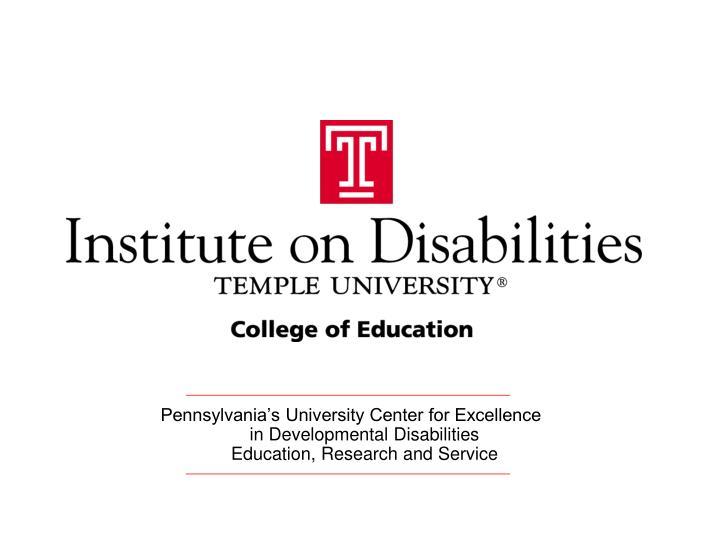 Pennsylvania's University Center for Excellence