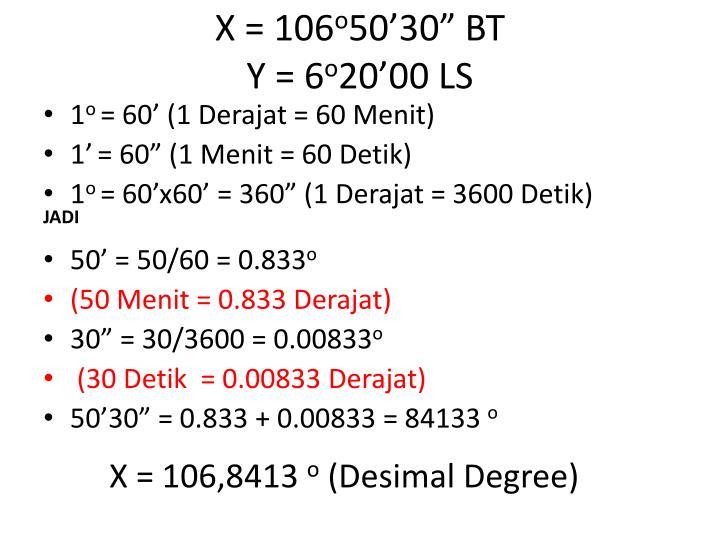X = 106