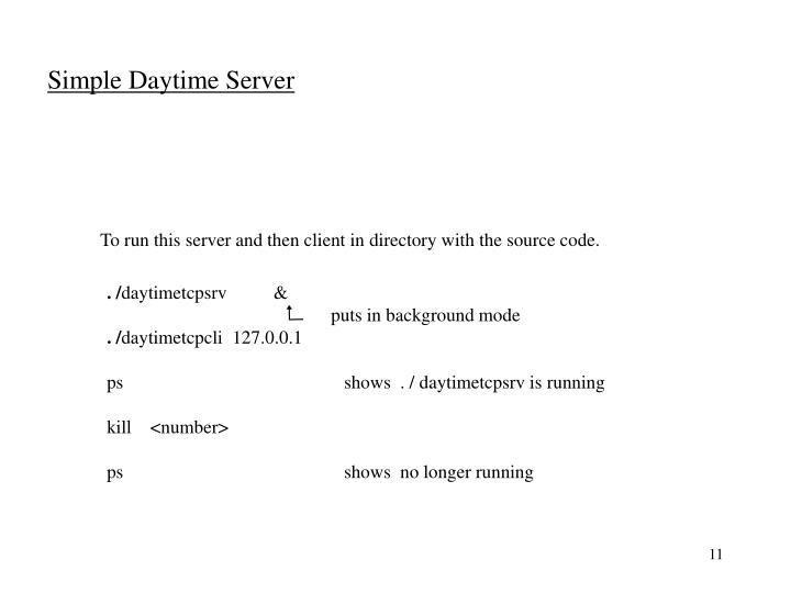 Simple Daytime Server