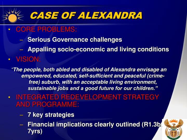 CASE OF ALEXANDRA