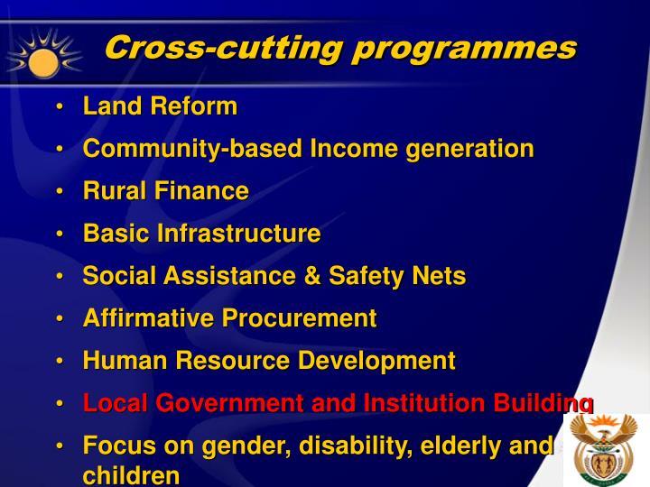 Cross-cutting programmes
