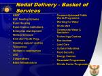 nodal delivery basket of services