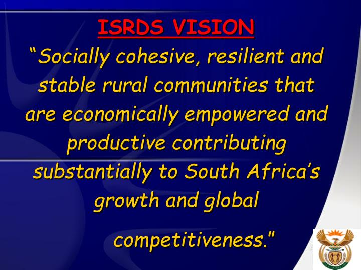 ISRDS VISION