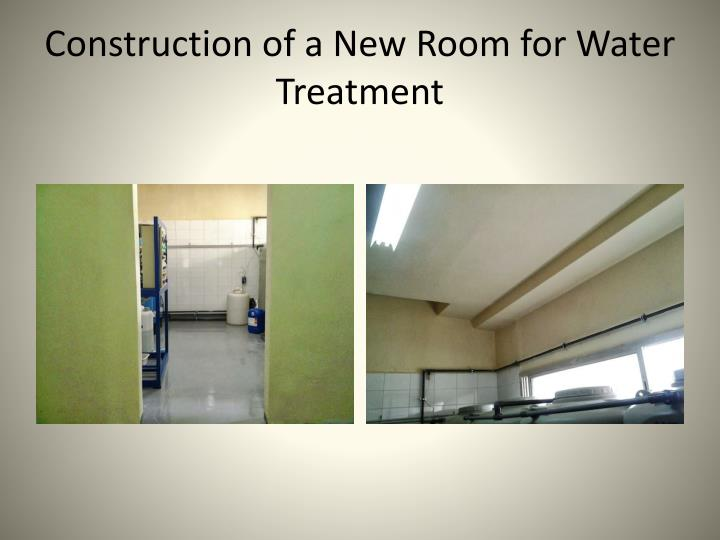 Construction of a New Room for Water Treatment
