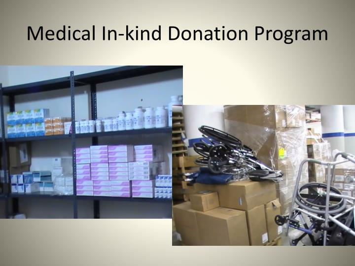 Medical In-kind Donation Program