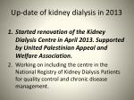 up date of kidney dialysis in 2013