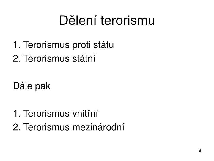 Dělení terorismu