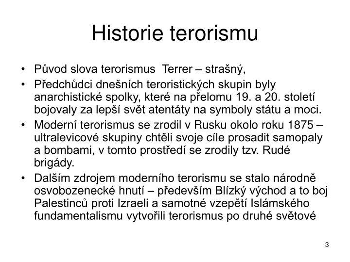 Historie terorismu