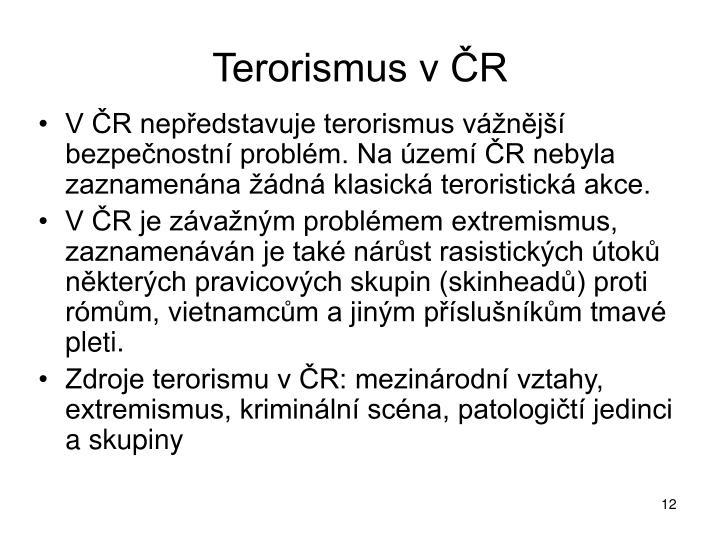 Terorismus v ČR