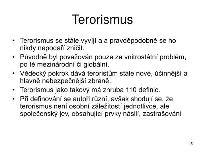 Terorismus