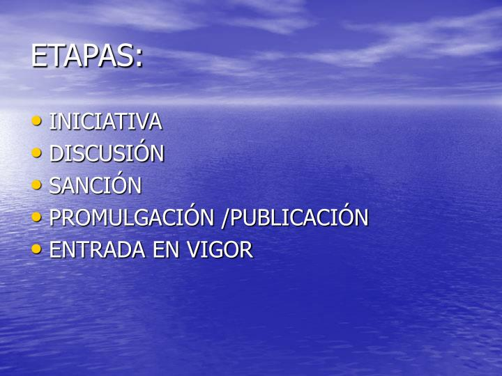 ETAPAS: