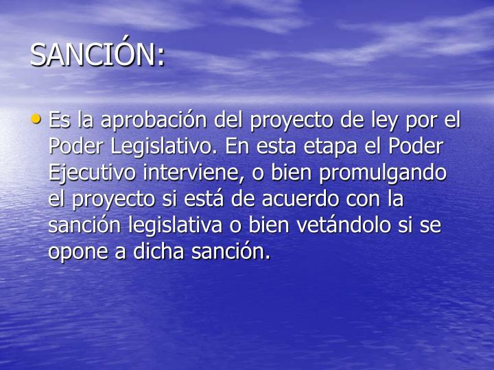 SANCIÓN: