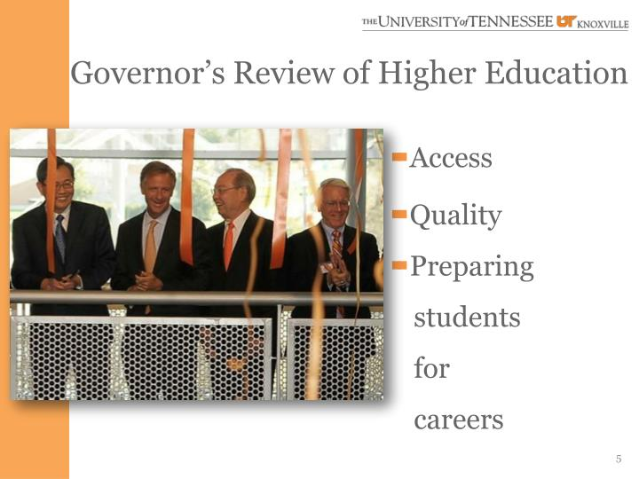 Governor's Review