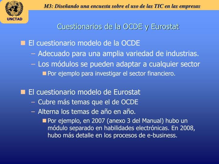 Cuestionarios de la OCDE y Eurostat