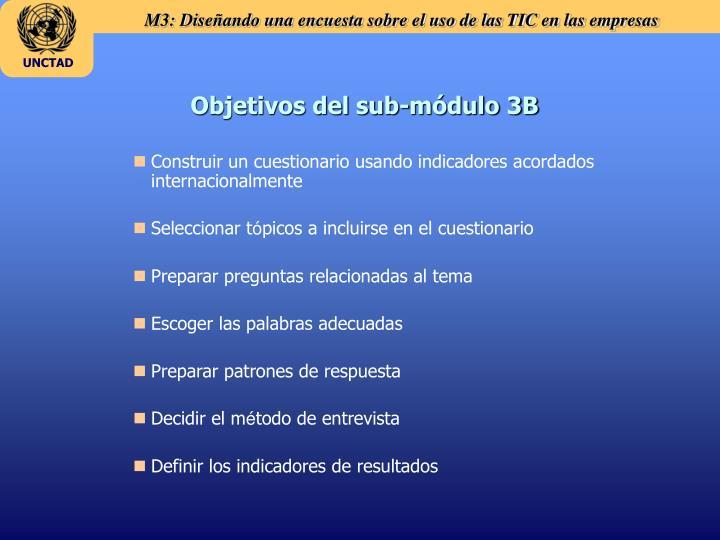 Objetivos del sub-módulo 3B