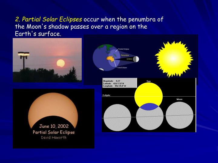 2. Partial Solar Eclipses