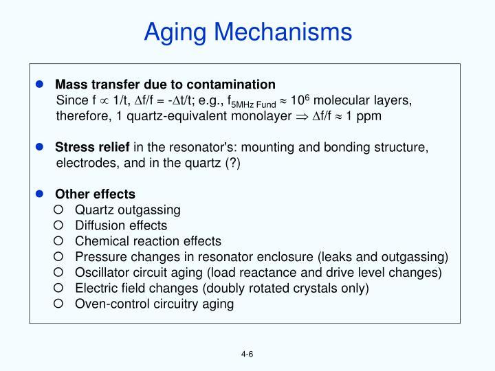 Aging Mechanisms
