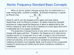 atomic frequency standard basic concepts