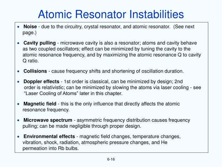 Atomic Resonator Instabilities