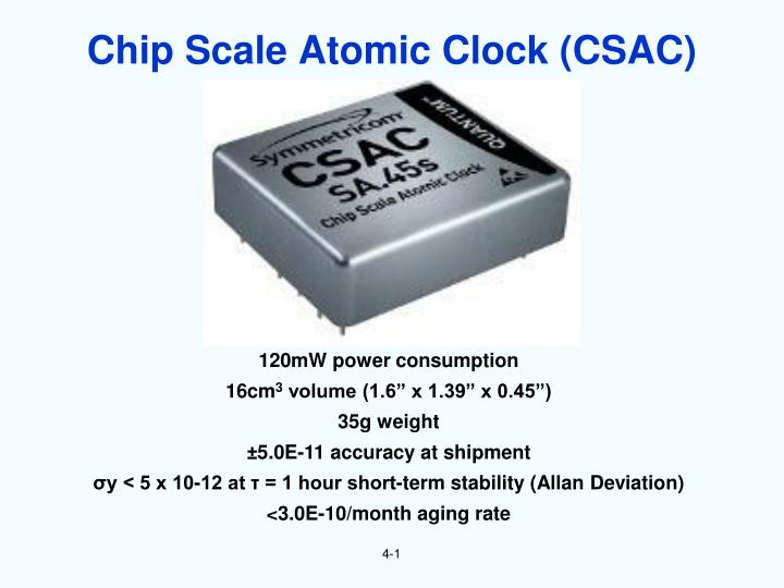 Chip Scale Atomic Clock (CSAC)