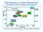 clock accuracy vs power requirement1