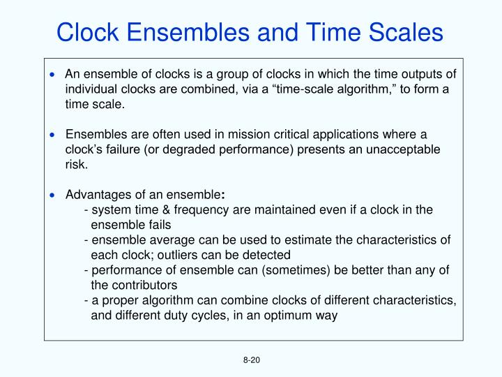 Clock Ensembles and Time Scales