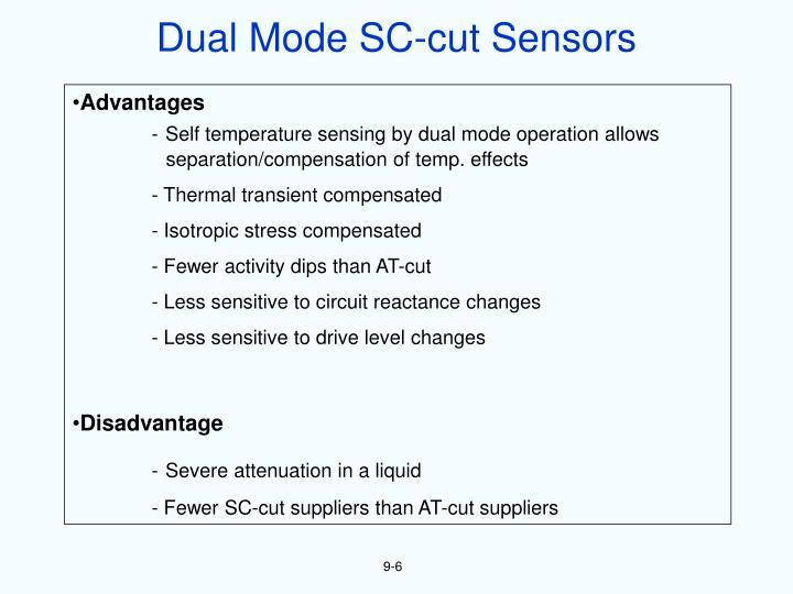 Dual Mode SC-cut Sensors