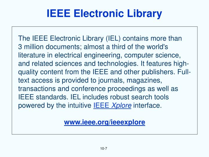 IEEE Electronic Library