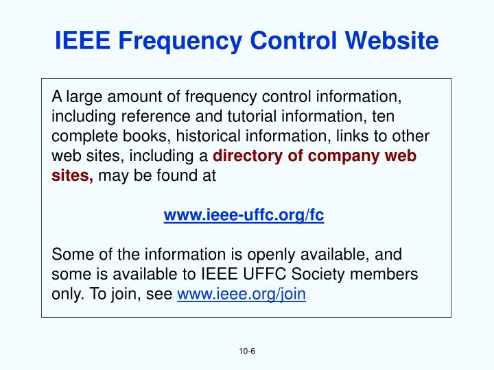 IEEE Frequency Control Website