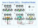 ions in quartz sio 2 simplified model
