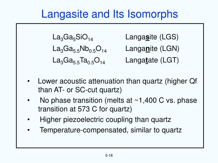 Langasite and Its Isomorphs