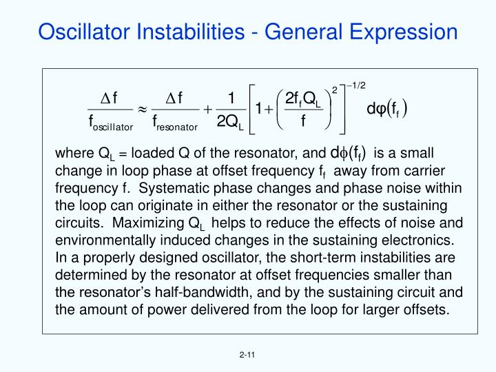 Oscillator Instabilities - General Expression
