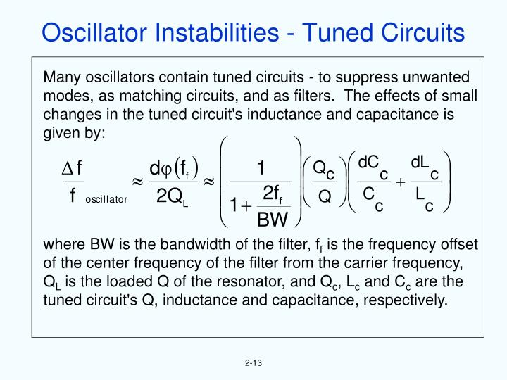 Oscillator Instabilities - Tuned Circuits