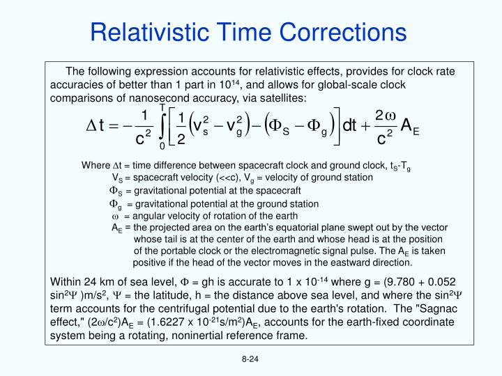 Relativistic Time Corrections