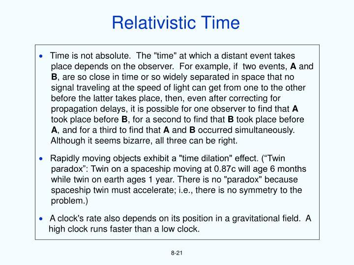Relativistic Time