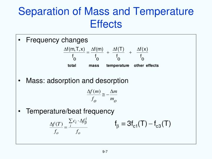 Separation of Mass and Temperature Effects