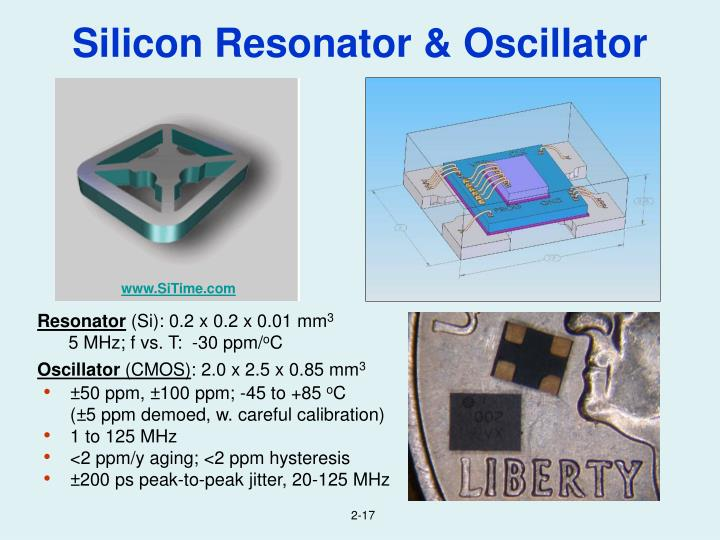 Silicon Resonator & Oscillator