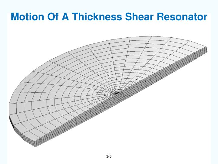 Motion Of A Thickness Shear Resonator