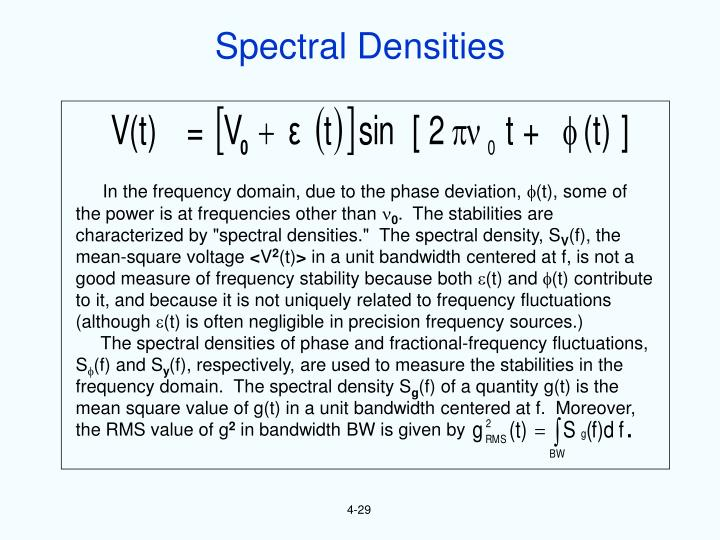 Spectral Densities