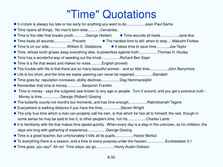 """Time"" Quotations"