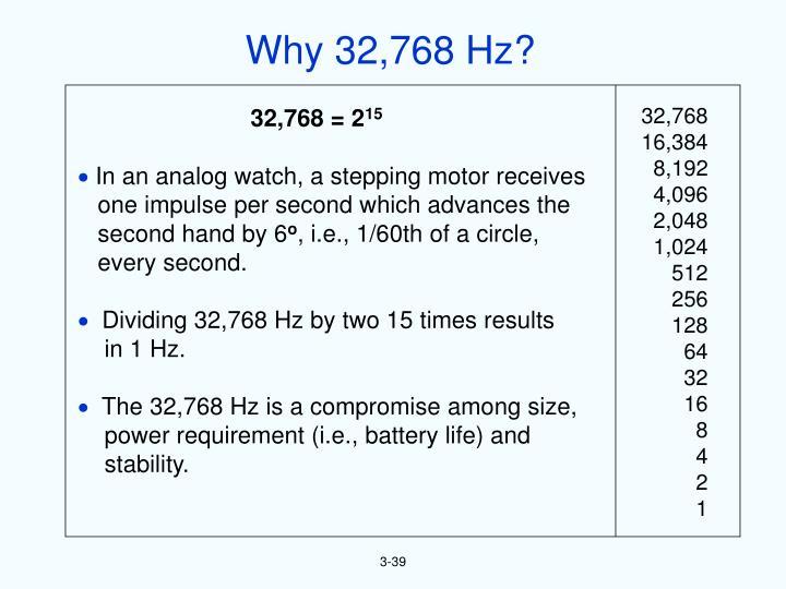 Why 32,768 Hz?