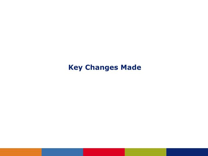 Key Changes Made