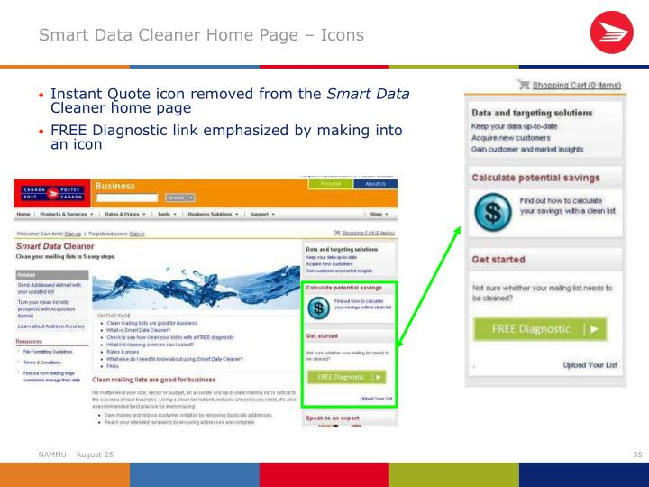 Smart Data Cleaner Home Page – Icons