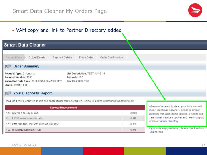 Smart Data Cleaner My Orders Page